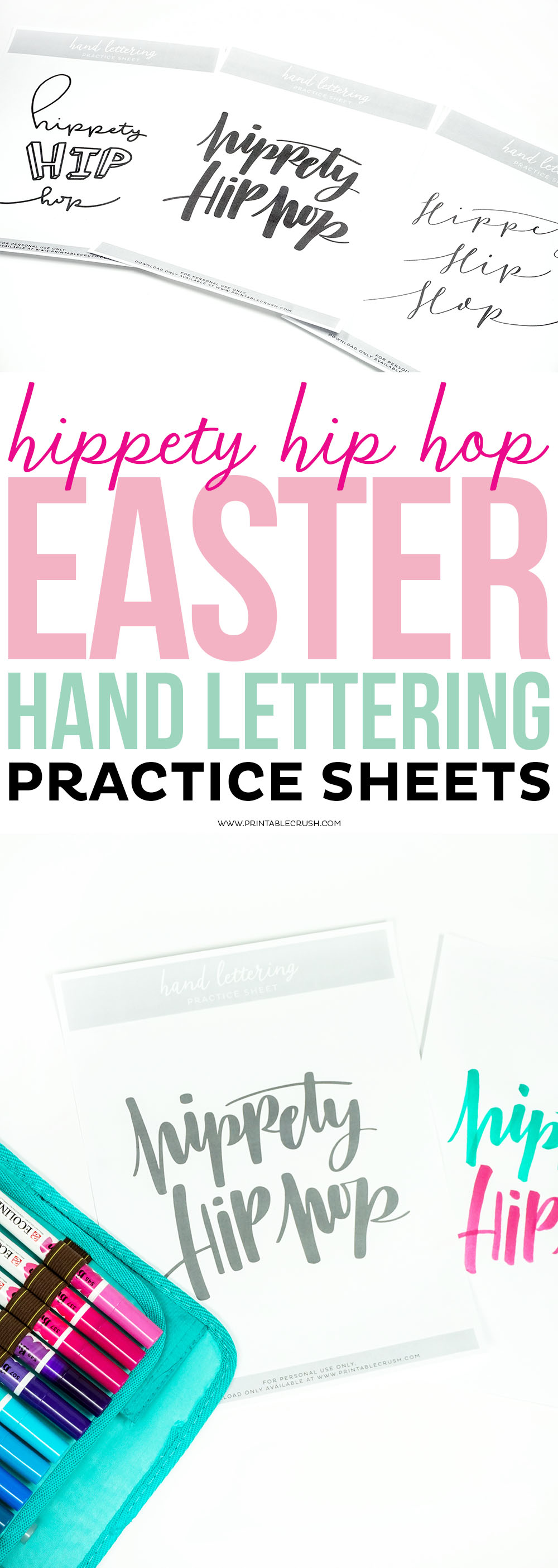 Download these Hand lettering Practice Sheets to create original art for Easter!