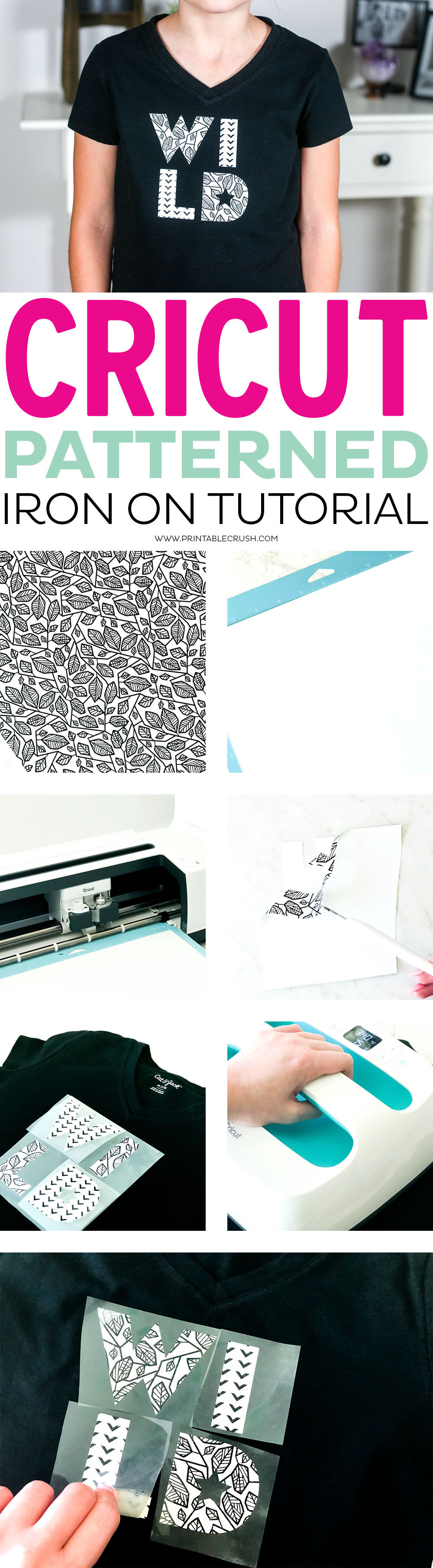 Cricut Patterned Iron On Tutorial Printable Crush