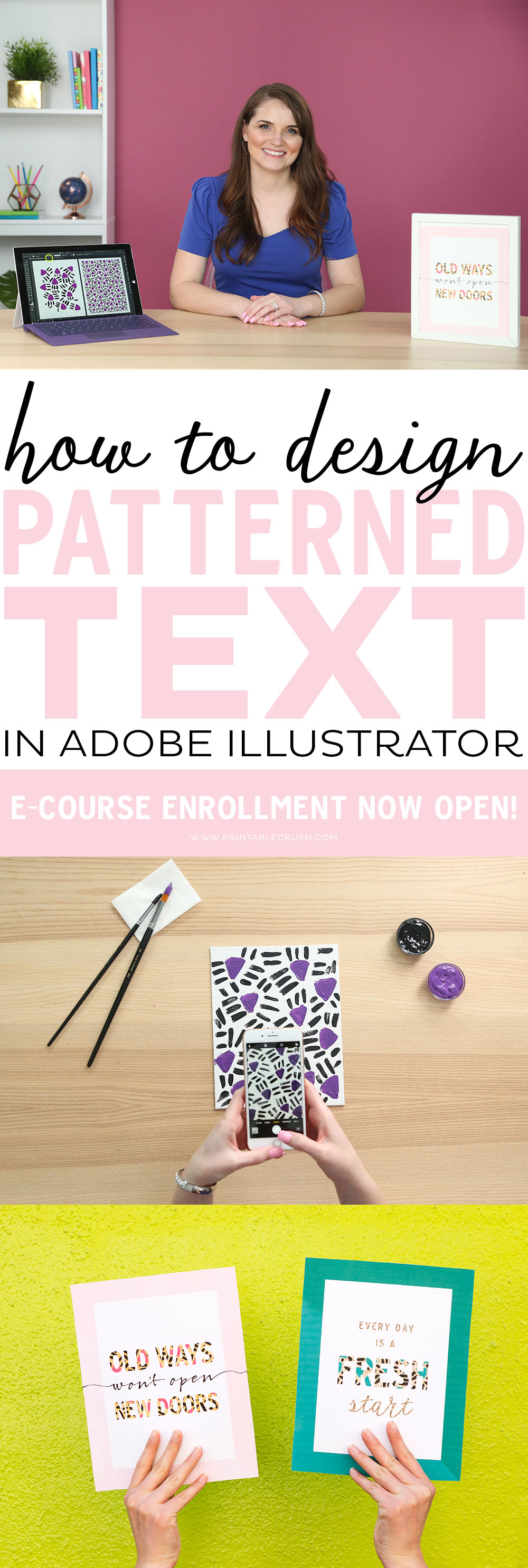 Learn how to create Patterns in Adobe Illustrator. I'm going over who needs this class, the supplies you'll need to have on hand, and what to expect when you take this course!