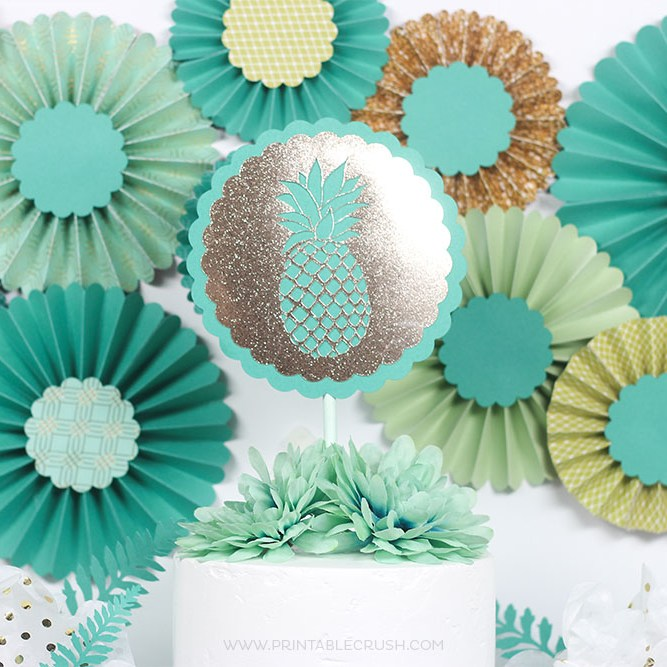 I'll show you how you can recreate this gorgeous tropical party with the Martha Stewart Cricut Explore Air 2 from Michaels!