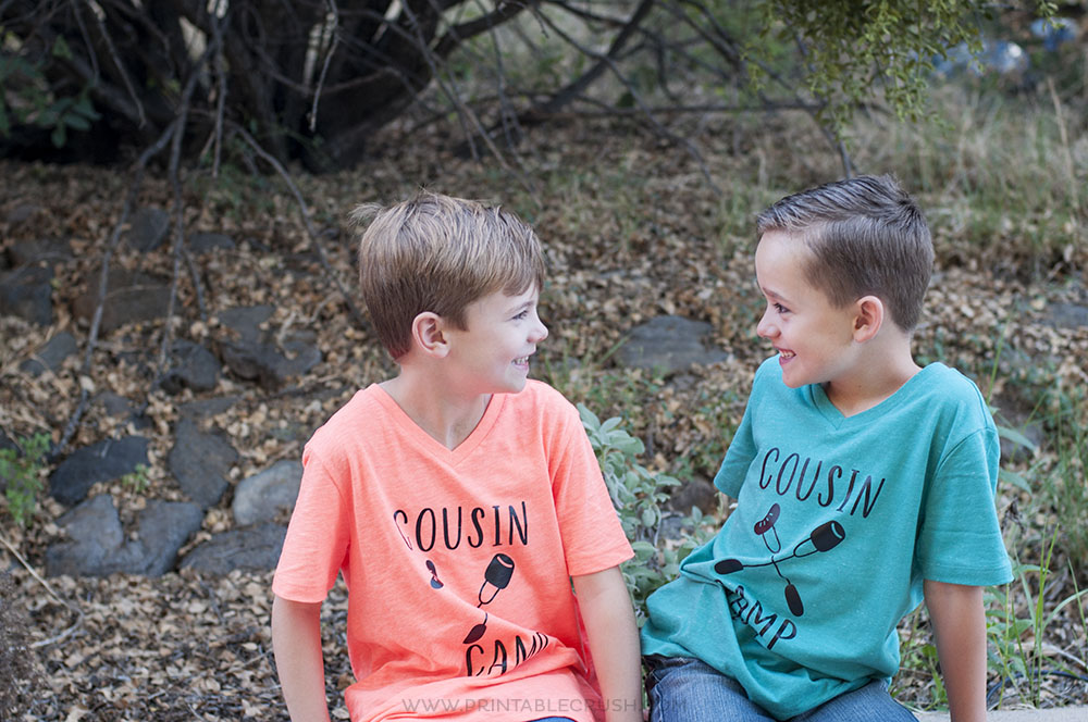 These Cousin Camp Cricut Iron On T-shirts are the perfect keepsake for your family reunions and summer get-togethers!