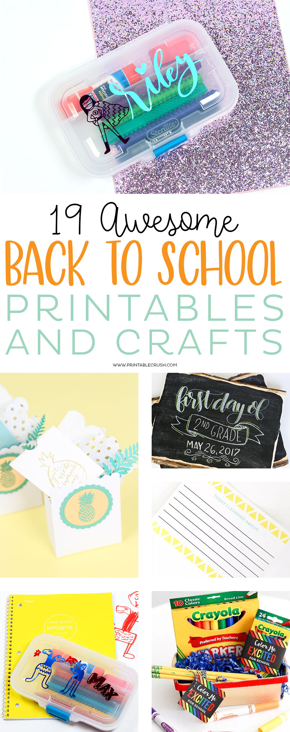 Your kids will love creating with these 19 AMAZING Back to School Printables and Crafts. You'll find teacher gifts, school supply activities, all about me printables and more! via @printablecrush