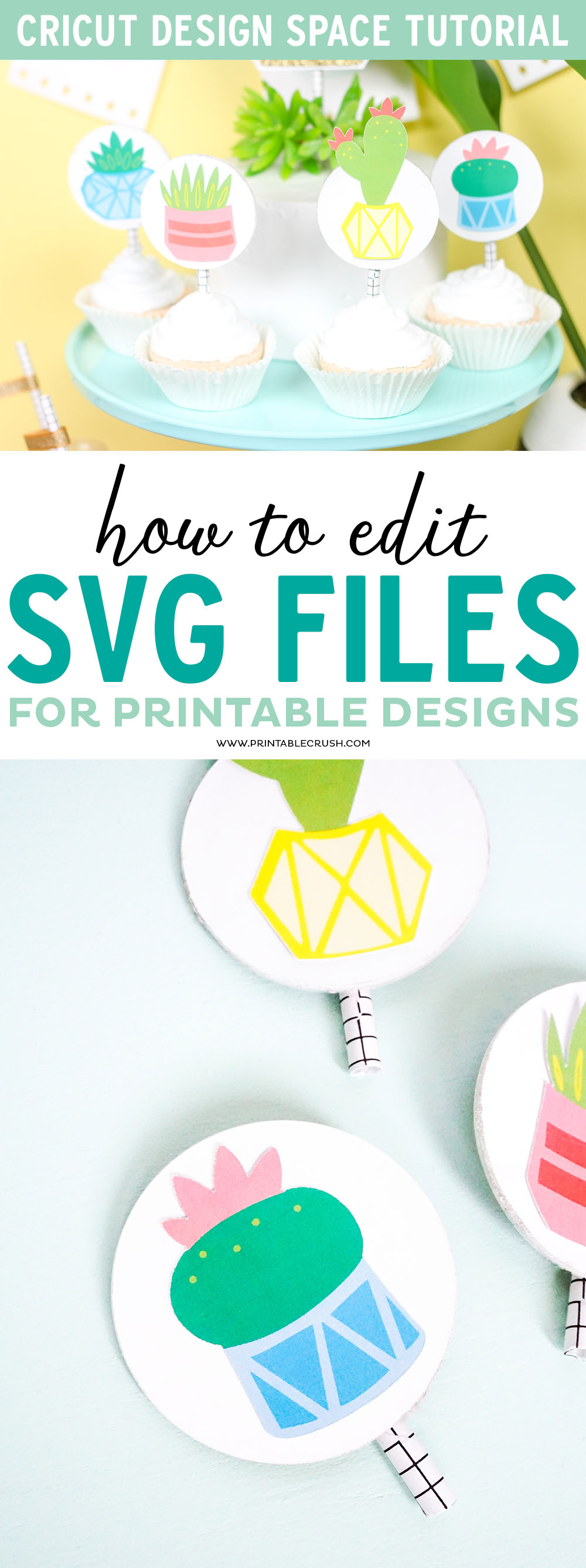 Create printable designs in Cricut Design Space by editing svg files