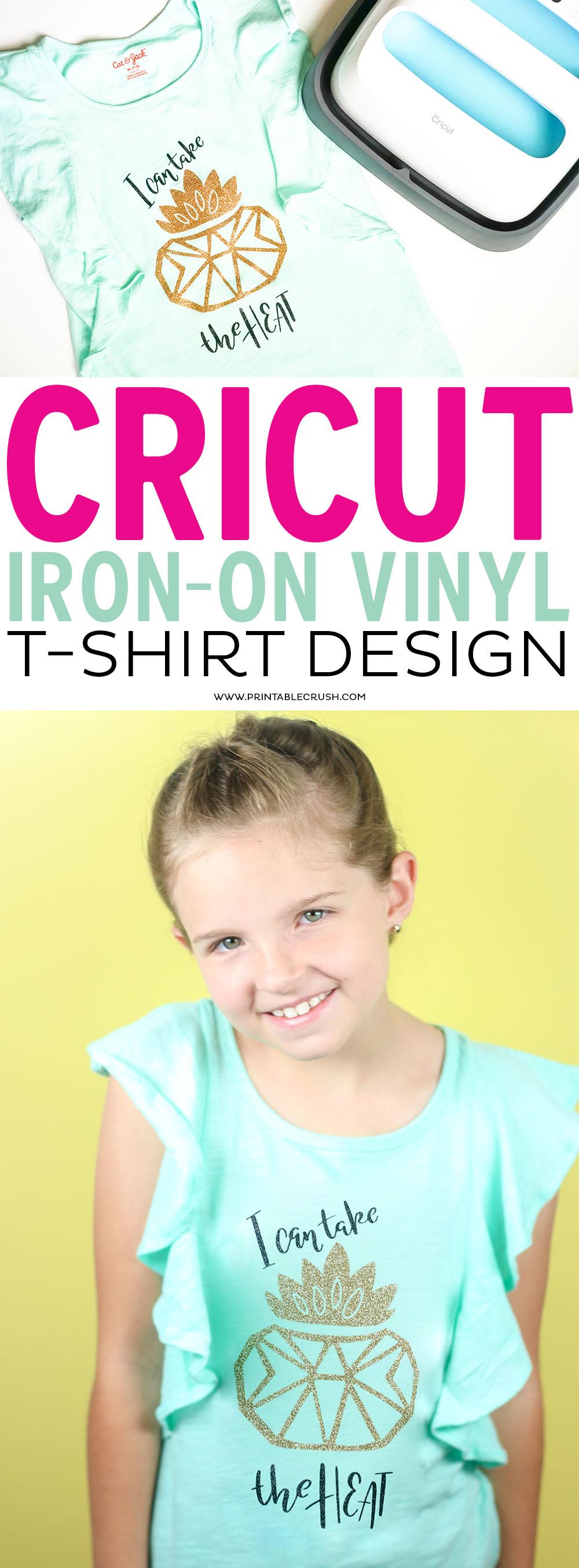 Cricut Iron-On Vinyl Succulent T-shirt Design