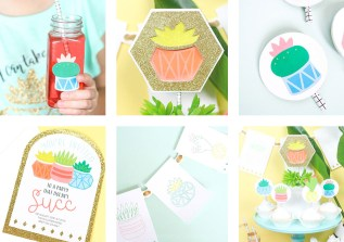 Get some amazingly fun Succulent Party Ideas with this Palm Springs Inspired Party