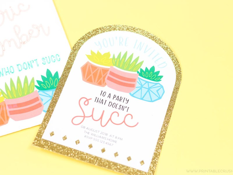 Learn to make invitations using svg files and Cricut Design Space
