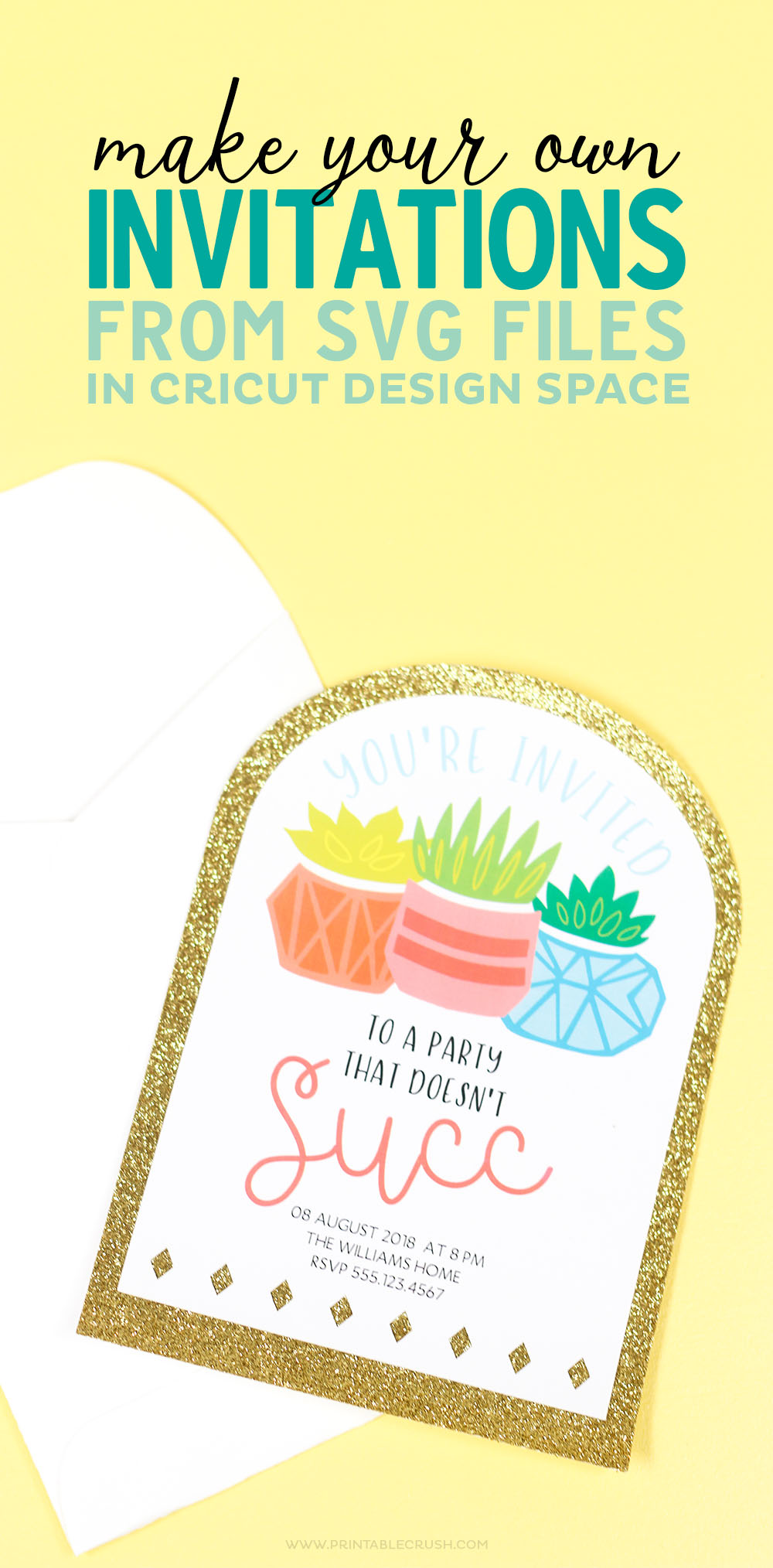Make Your Own Invitations from SVG Files in Cricut Design Space ...
