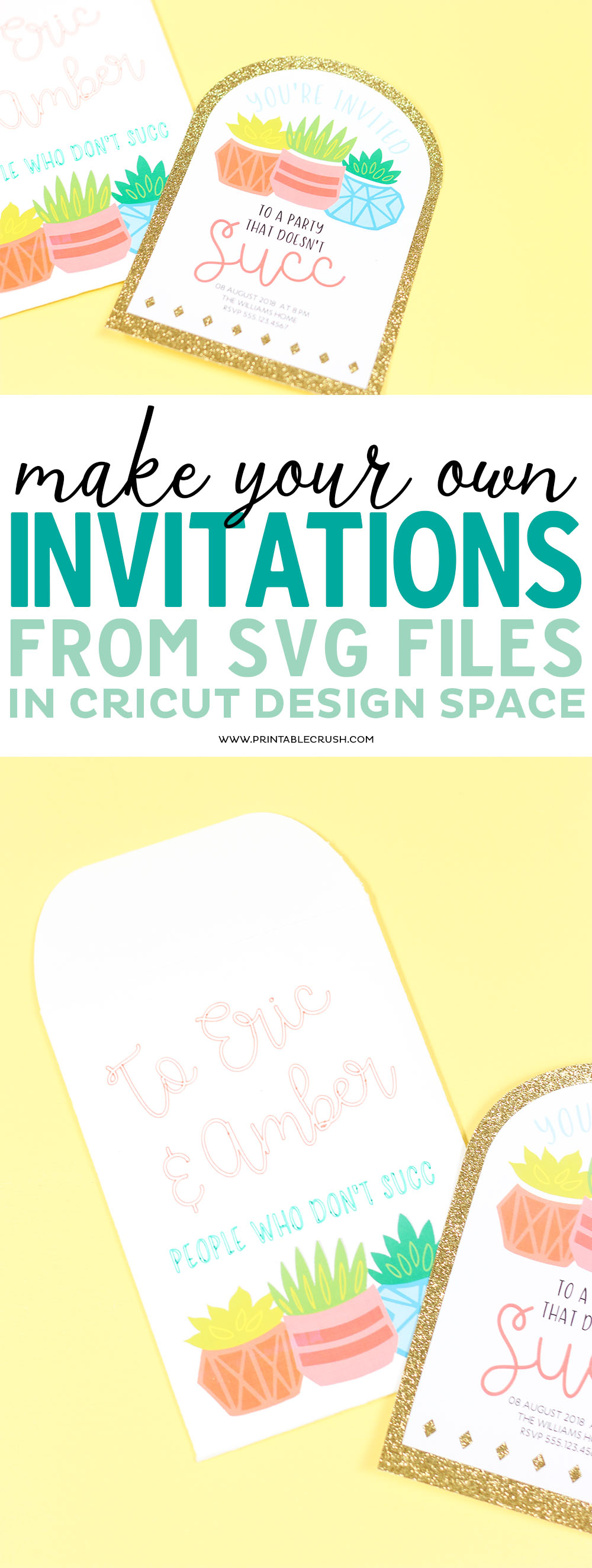 make your own invitations from svg files in cricut design space