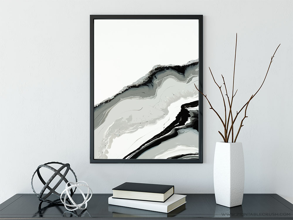 picture about Free Printable Wall Art Decor referred to as Amazing and Free of charge Geode Printable Wall Artwork - Printable Crush