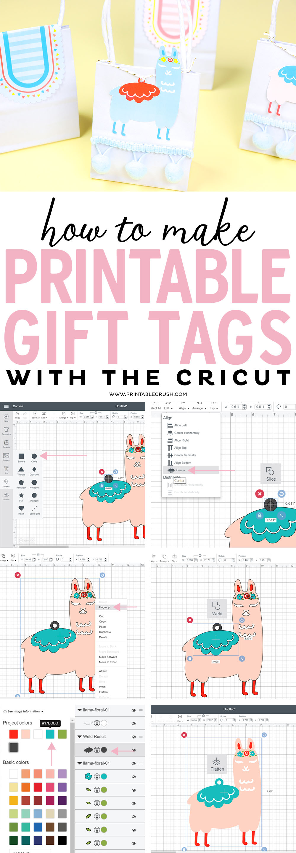 How to Make Printable Gift Tags with your Cricut