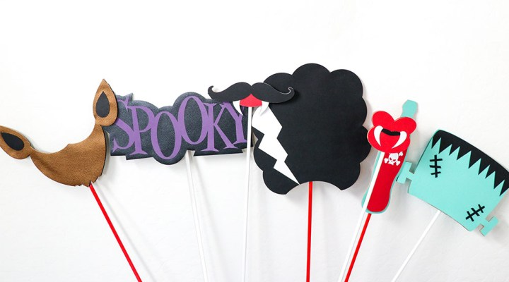 Use the Cricut Maker to create these fun and Spooky Monster Photo Props for Halloween Parties