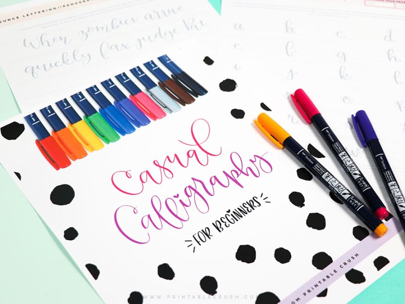 Learn to use a brush pen and calligraphy pen with the Casual Calligraphy Course.