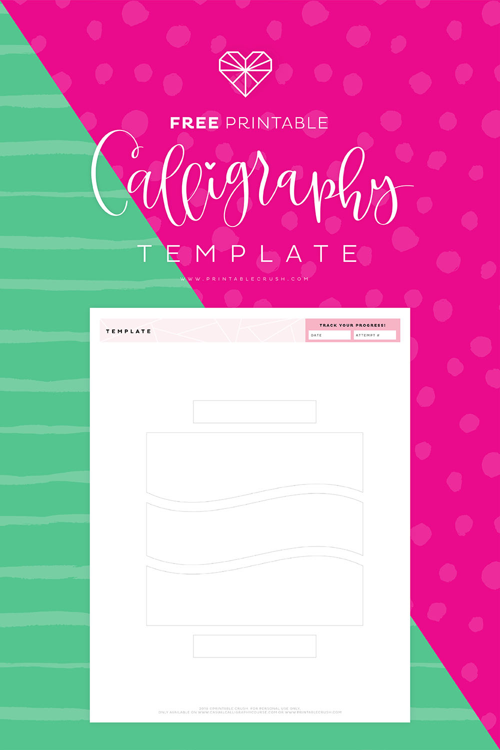 Free Printable Calligraphy Template Printable Crush