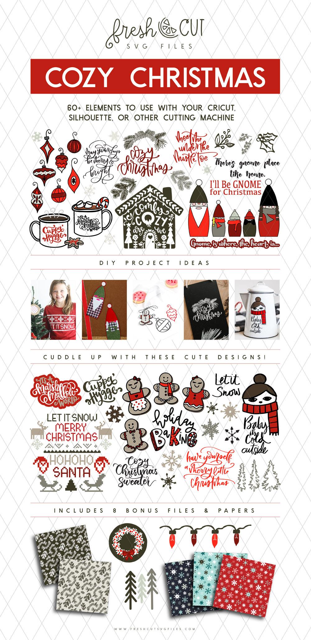 Cozy Christmas SVG File Bundle