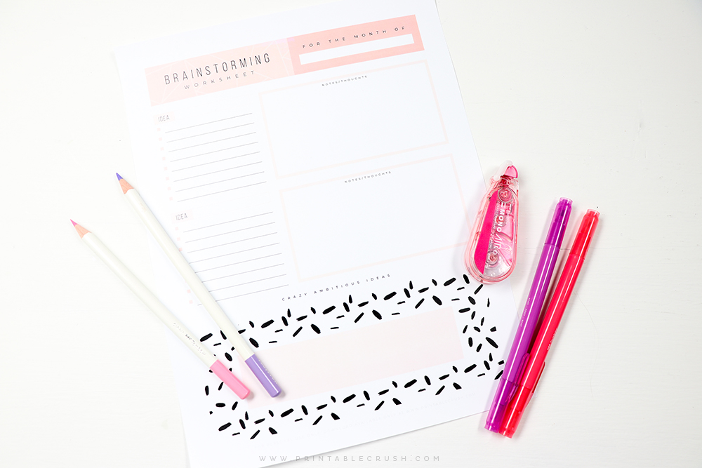 Get those brilliant ideas down on paper with this FREE Printable Goal Planning Worksheet!