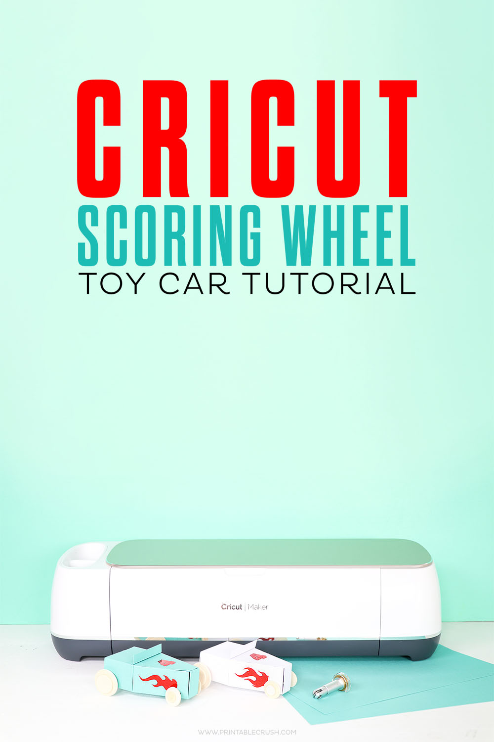 You can make these cute paper cars with the Cricut Scoring Wheel. Get this fun attachment for your Cricut Maker!