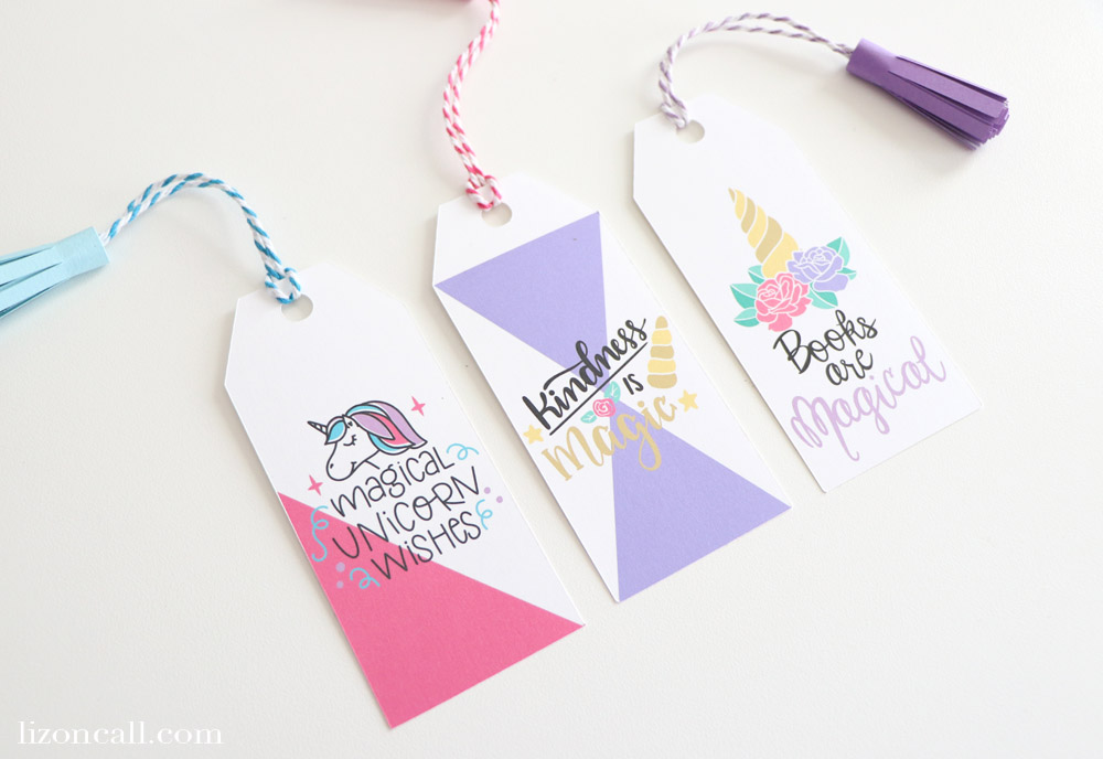 These DIY Unicorn Tassel Bookmarks are so cute and easy to make with your Cricut Machine!