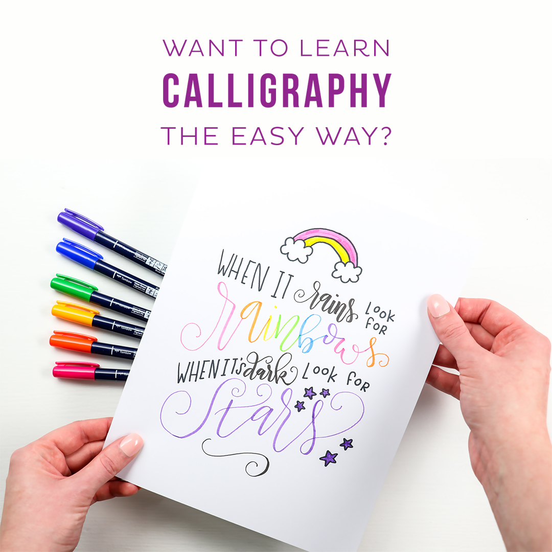 Want to learn Calligraphy the easy way? Take the Casual Calligraphy Course by Printable Crush!
