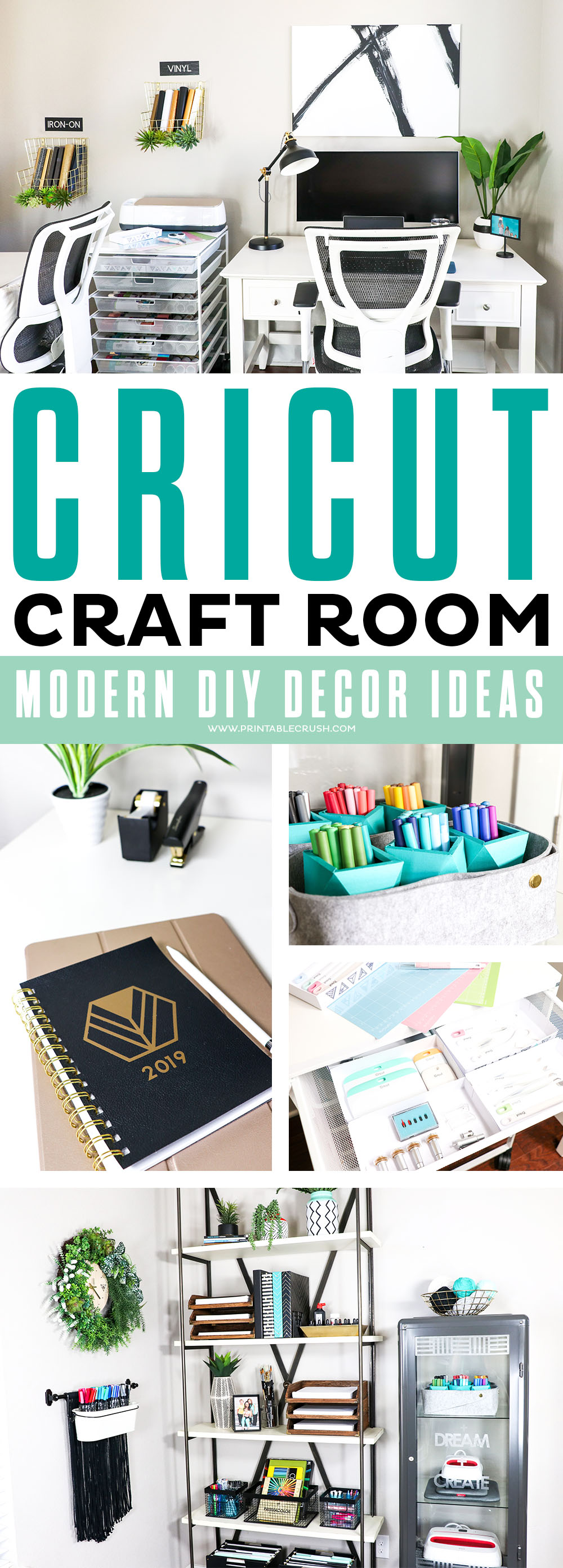 Office And Cricut Craft Room Diy Decor Ideas Printable Crush