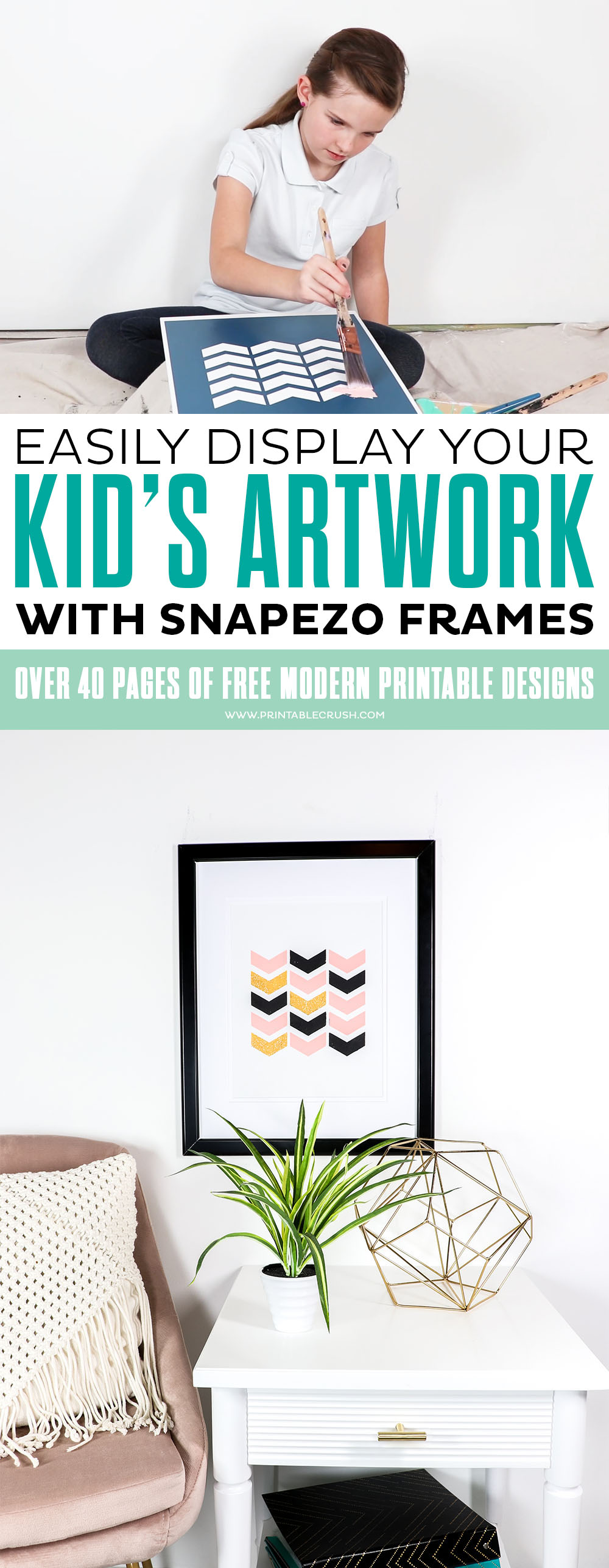 Display your kids artwork with snapezo frames - I'll tell you how to go from canvas to creation to artwork in this super fun tutorial!