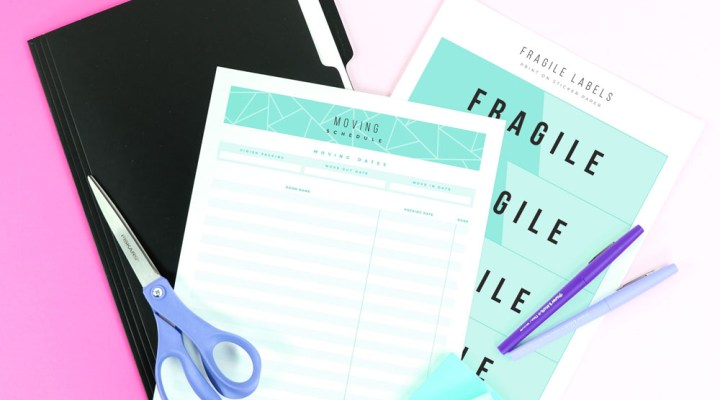 Get six moving tips and ideas for a less stressful move - plus try out a sample page of the Moving Printable Planner!