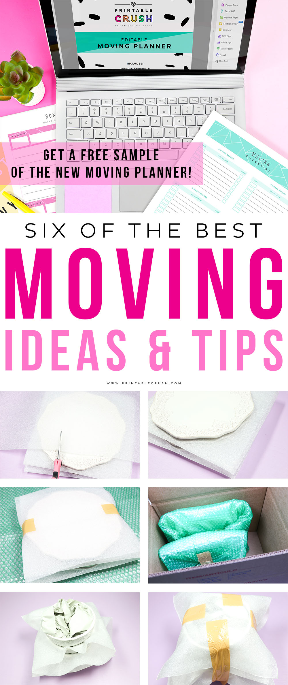 Have a less stressful move with these Moving Ideas and Tips. Plus try a sample of my new Moving Printable Planner Set!