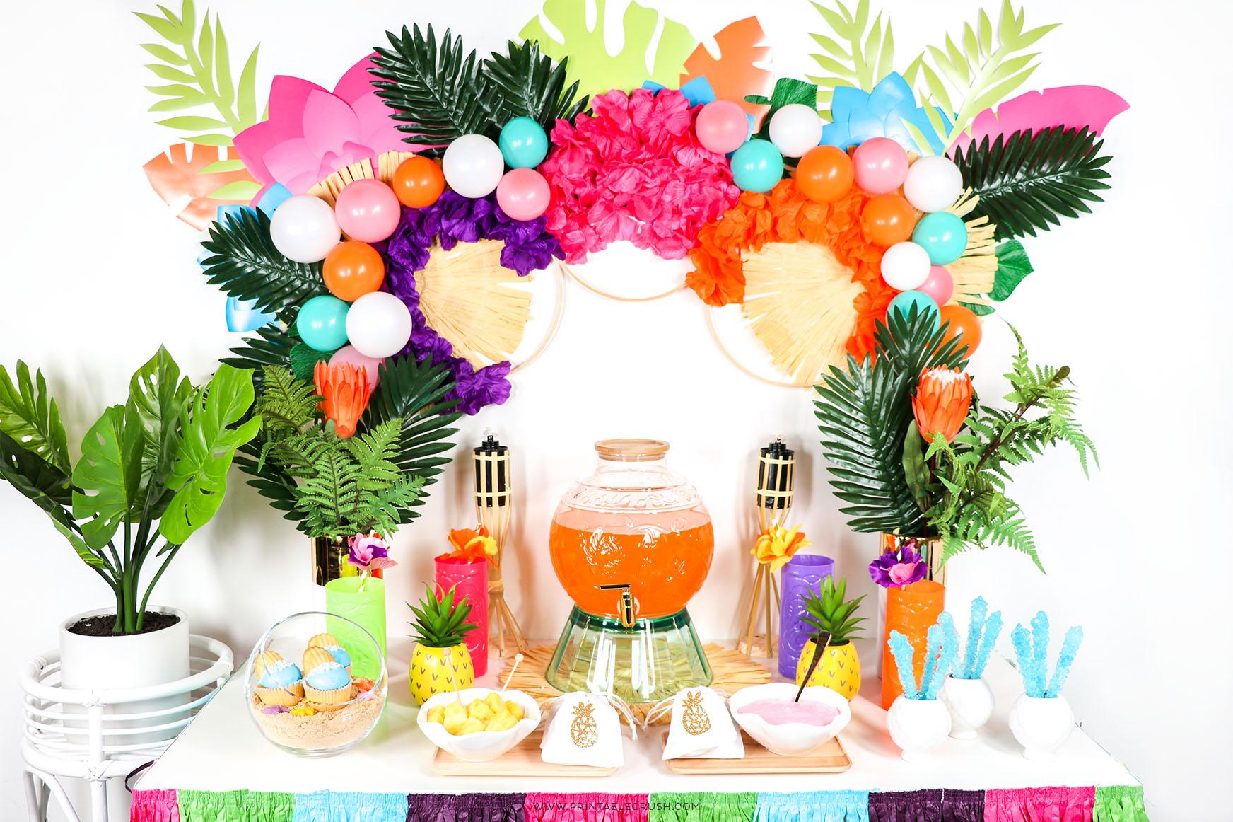 Easy Hawaiian Luau Party Ideas Printable Crush Parties