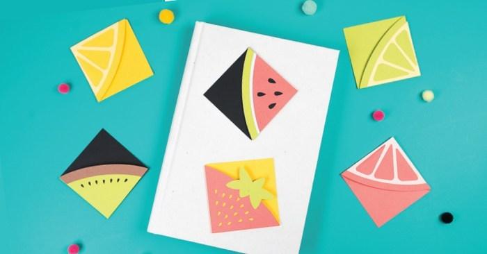 DIY Bookmarks: Fun with Fruit