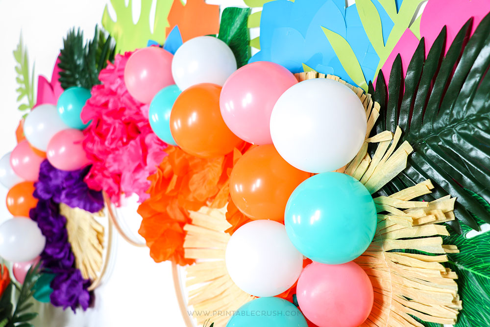 Gorgeous DIY Party Backdrop by Printable Crush