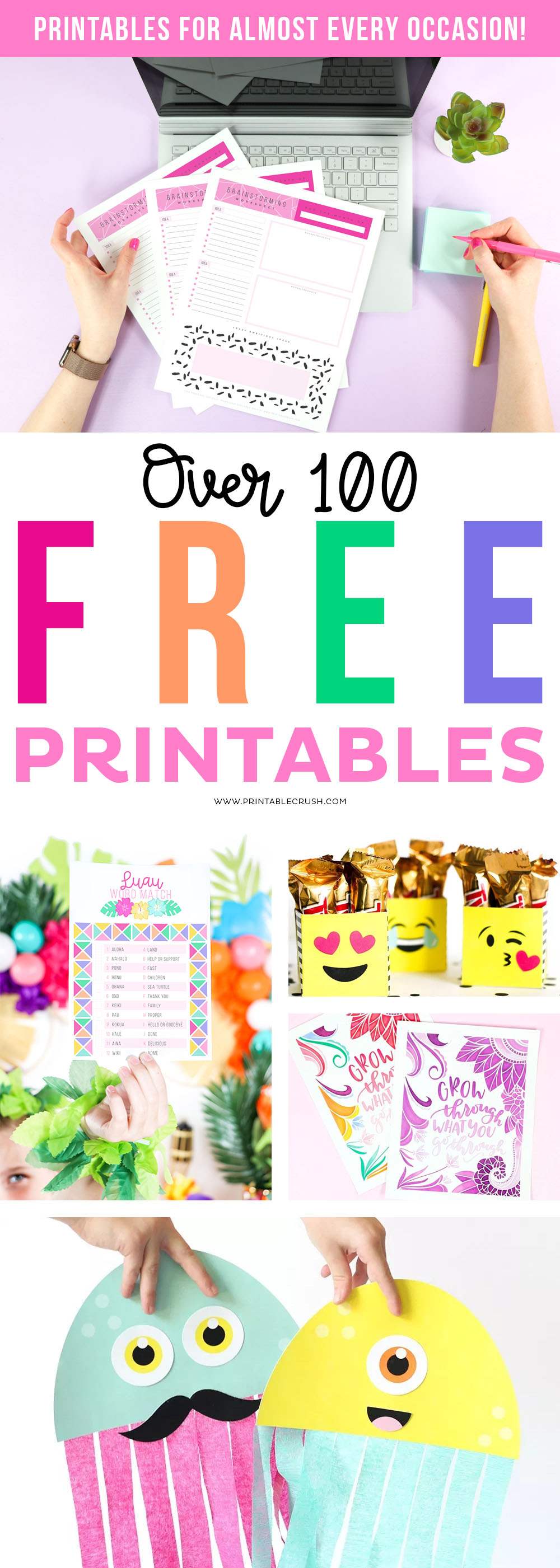 Looking for FREE Printables, but having a problem navigating through Pinterest? You'll love this list of over 100 printables for almost EVERY Occasion!