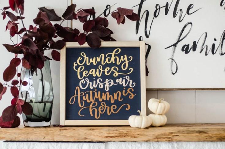 DIY Autumn Sign and Fall Themed SVG Bundle