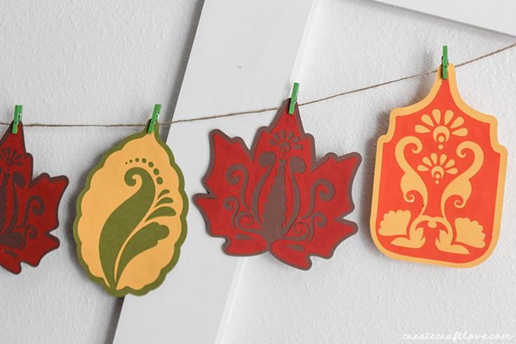 Fall Leaf Garland | October SVG Bundle