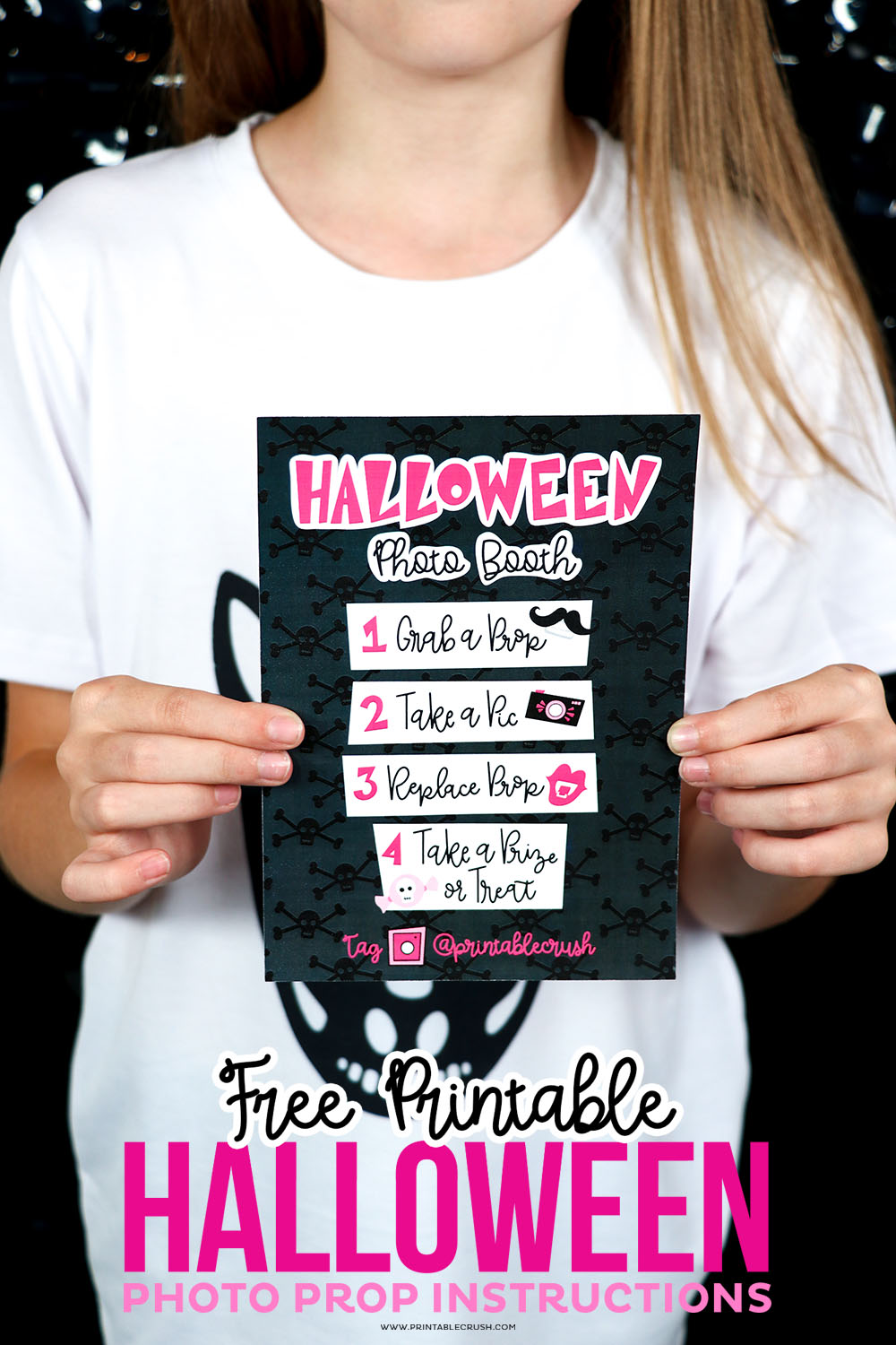 Free Printable Halloween Photo Prop Instructions