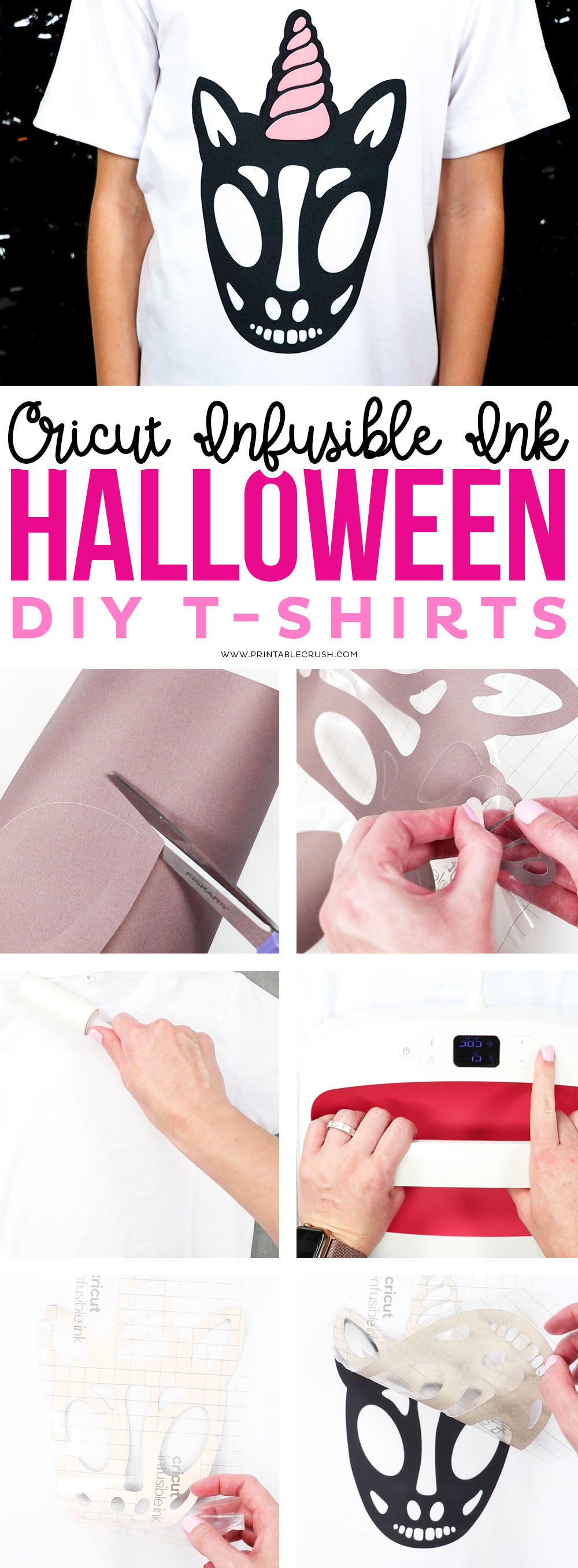 Unicorn Skull Halloween Tee and Infusible Ink Instructions with the EasyPress 2