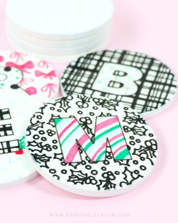Cute Custom Coasters made with the Cricut EasyPress 2
