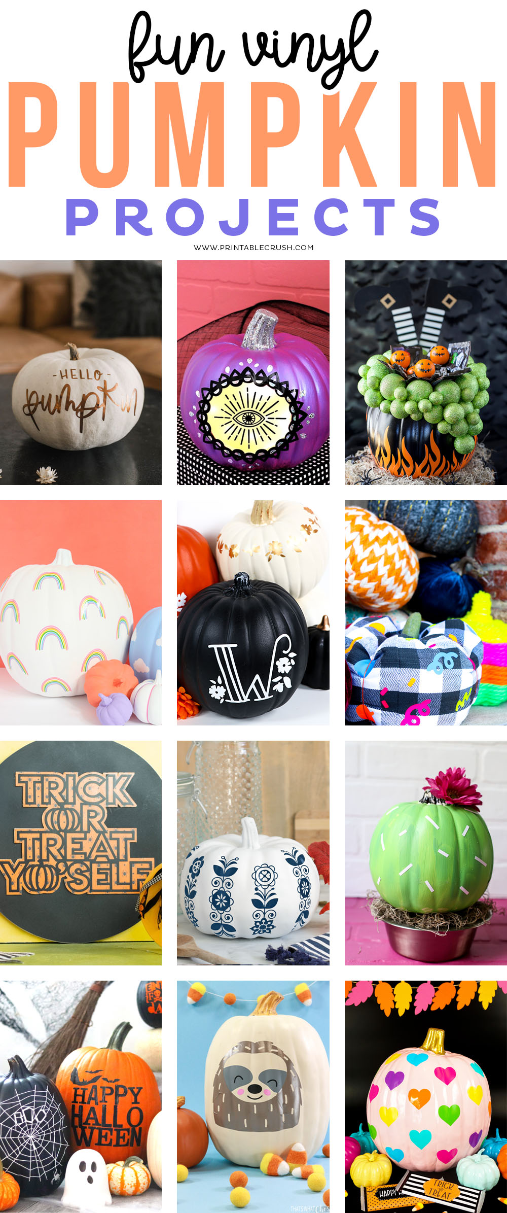 Fun Vinyl Pumpkin Projects