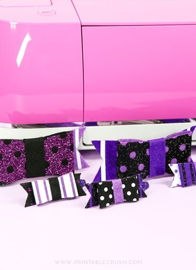 Use the Cricut Explore Air 2 and EasyPress mini to make these cute glitter and felt hair bows