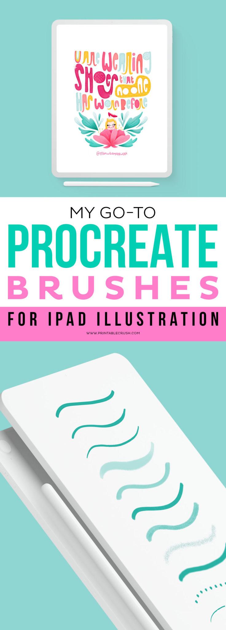 Top Procreate Brushes for iPad Illustration - Creative Market Brushes #ipadillustration #erinwilliamsartwork #ipaddrawings #procreateapp #procreate #procreatebrushes via @printablecrush