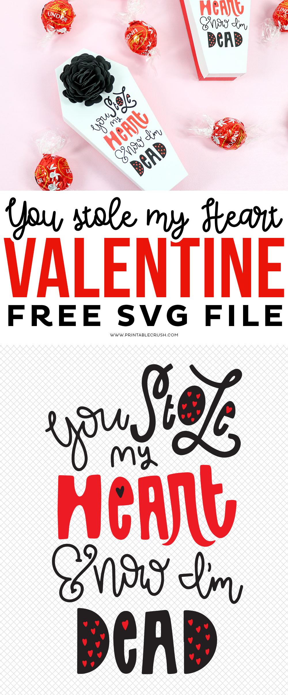 Morbid and Free Valentine SVG File