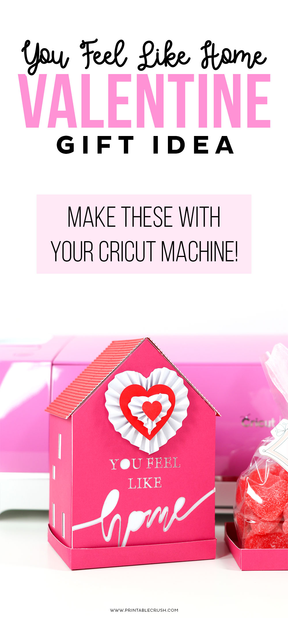 Use your Cricut to make this cute Valentine's Day Gift Idea
