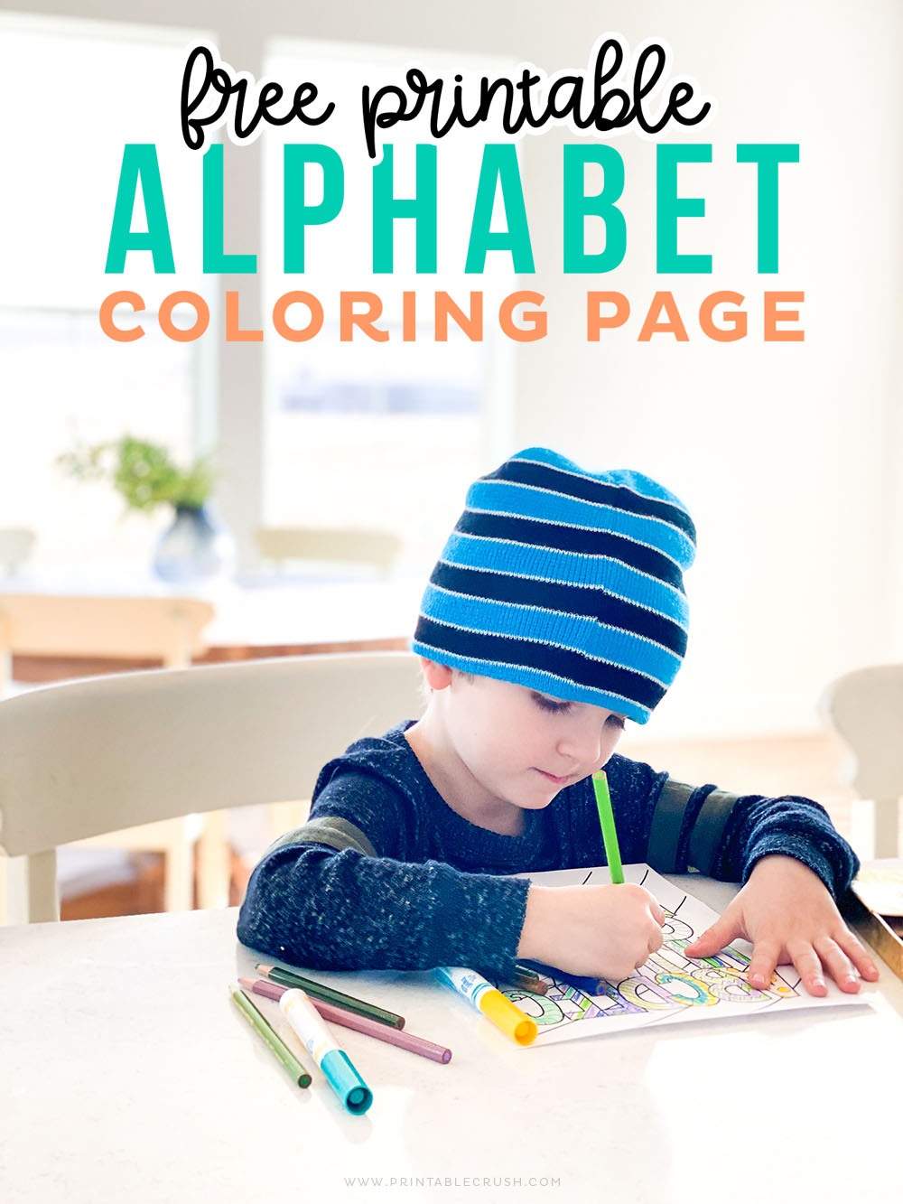 Free Alphabet Coloring Page Printable