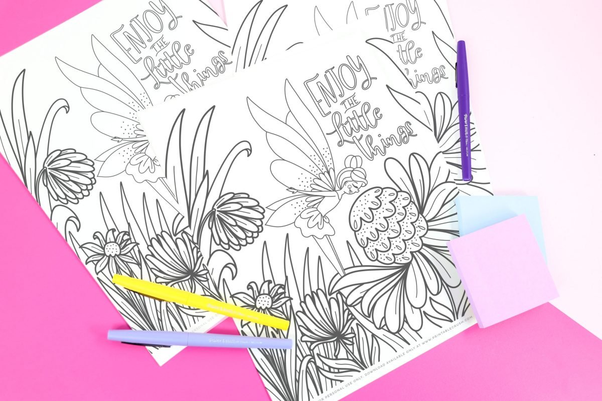 Free Garden Fairy Coloring Page