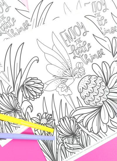 Fairy Printable Coloring Sheet