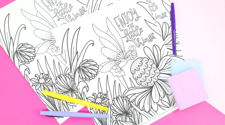 Fairy Printable Coloring Sheet