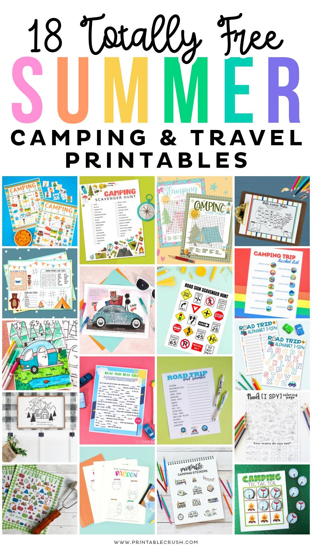 Free Printable Camping Drawing Tutorials