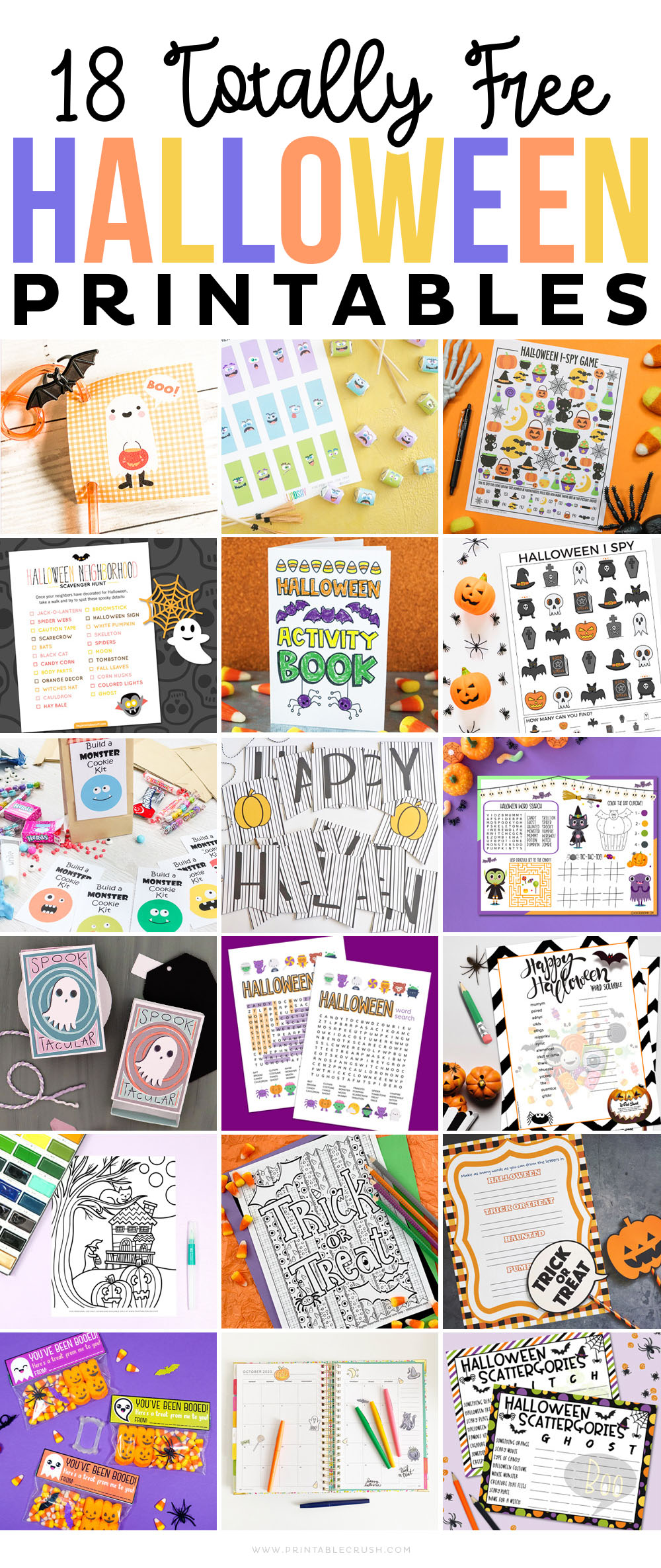 18 Totally Free Halloween Printables