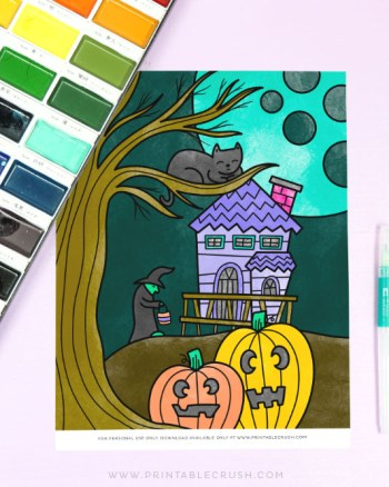 Free Halloween Coloring Sheet Printable - Printable Crush