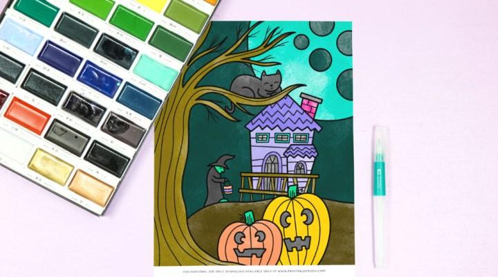 Free Halloween Coloring Sheet Printable - Printable Crush