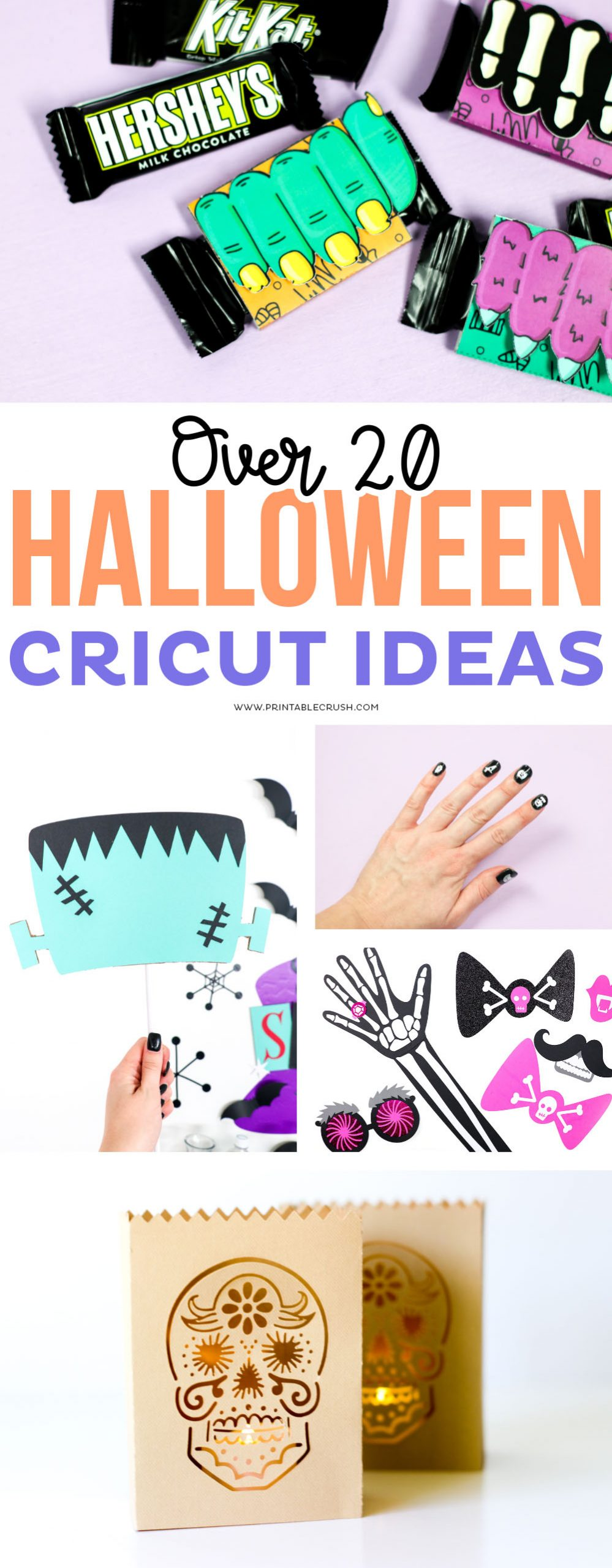 Over 20 Halloween Cricut Ideas - Halloween print and cut files, photo prop ideas, trick or treat ideas, and more!