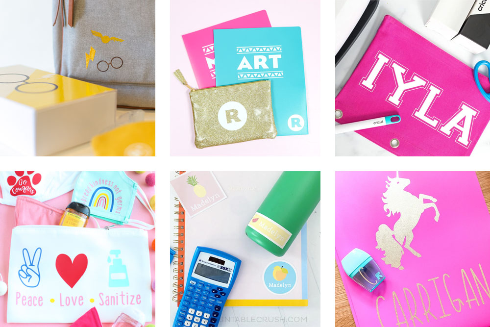The BEST Cricut Personalized Back to School Supplies